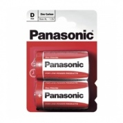 Батарейка Panasonic, Red Zinc, R20RZ/2BP тип D, 1.5V (блистер - 2 шт)