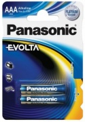 Батарейка Panasonic, EVOLTA, LR03EGE/2BP тип ААА, 1.5V  (блистер - 2 шт)