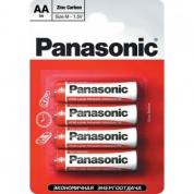 Батарейка Panasonic, Red Zinc, R03RZ/4BP тип ААА, 1.5V (блистер - 4 шт)
