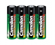 Батарейка CAMELION, Super Heavy Duty, R6P-SP4G, тип АA, 1.5V (блистер - 4 шт)