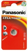 Батарейка Panasonic, Alkaline Power, LR-44EL/1BE, 1.5V  (блистер - 1 шт)