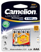 Аккумулятор CAMELION, Lockbox Rechargeable, NH-AAA1100LBP4, тип AAA, 1.2V, 1100 mAh (блистер -4 шт.)