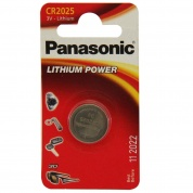 Батарейка Panasonic, LITHIUM Power, CR-2025EL/1B, 3V (блистер - 1 шт)
