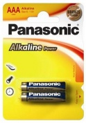 Батарейка Panasonic, Alkaline Power, LR03APB/2BP тип ААА, 1.5V (блистер - 2 шт)