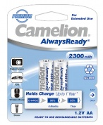 Аккумулятор CAMELION, AlwaysReady Rechargeable, NH-AA2300ARBP2, тип AA, 1.2V, 2300 mAh (блистер2 шт)