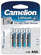 Батарейка CAMELION, Lithium Battery P7, FR03-BP4, тип AAA, 1.5V (блистер - 4 шт)
