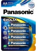 Батарейка Panasonic, EVOLTA, LR6EGE/4BP тип АА, 1.5V (блистер - 4 шт)