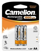 Аккумулятор CAMELION, Rechargeable Accu, NH-AA1800BP2, тип AA, 1.2V, 1800 mAh (блистер2 шт)