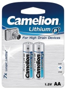 Батарейка CAMELION, Lithium Battery P7, FR6-BP2, тип AA, 1.5V (блистер - 2 шт)